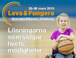 Annons för Leva & fungera 26-28 mars 2019. lösningarna som vidgar livets möjligheter